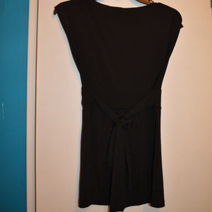 Wrapper Tops - Almost Sleeveless black shirt